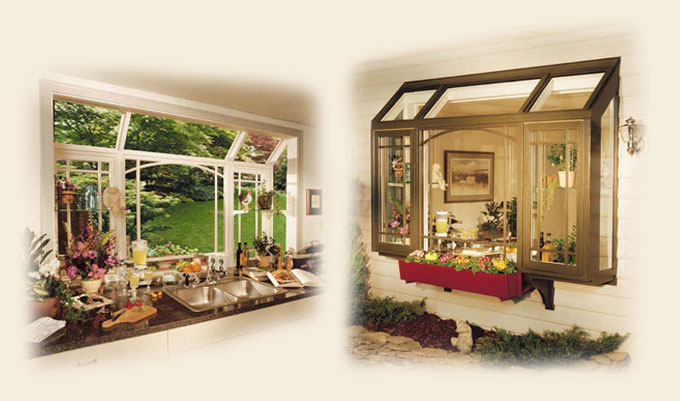 Kitchen Garden Windows by Renaissance Conservatories - Wood ...