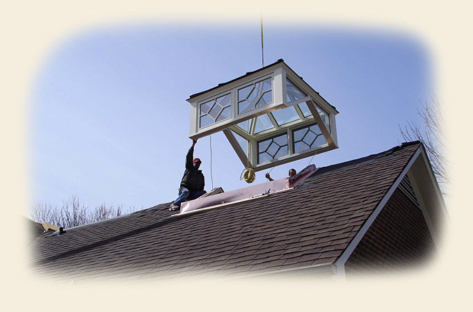Custom Cupola Crane Installation By Renaissance Skylights