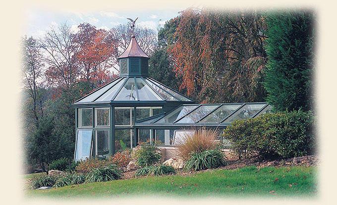 An octagonal free standing renaissance greenhouse for Octagonal greenhouse plans