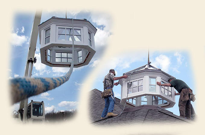 Custom Skylight Cupola Crane Installation By Renaissance